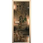 Стеклянные межкомнатные двери BRAVO Sauna