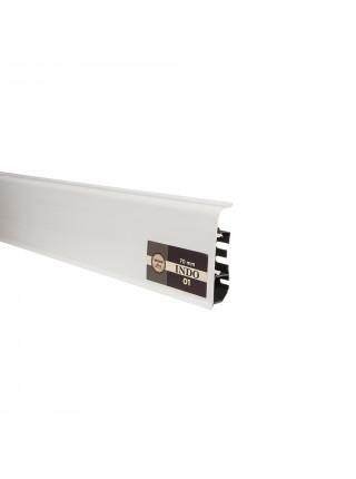 Плинтус пластиковый с кабель-каналом Arbiton Indo 01 Белый Блеск 70х26, 1 м.п.