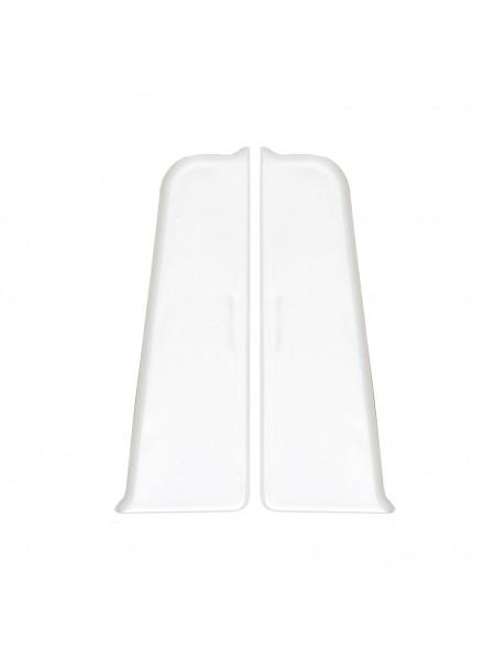 Заглушки торцевые (пара) для плинтуса Arbiton Indo 01 Белый Блеск