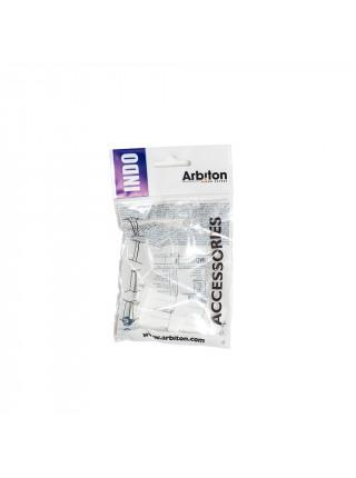 Соединитель для плинтуса Arbiton Indo 01 Белый Блеск