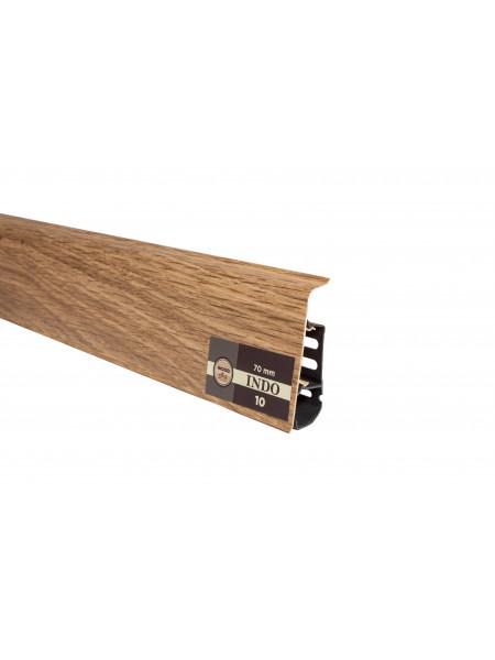 Плинтус пластиковый с кабель-каналом Arbiton Indo 10 Дуб Бурбон 70х26, 1 м.п.
