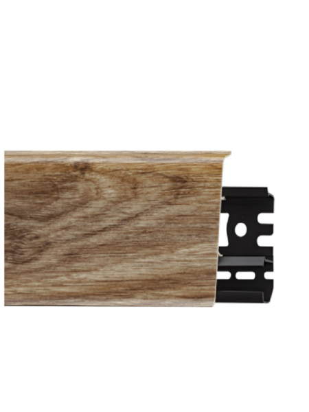 Плинтус пластиковый с кабель-каналом Arbiton Indo 06 Дуб Лаплант 70х26, 1 м.п.