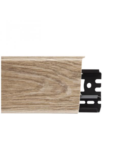 Плинтус пластиковый с кабель-каналом Arbiton Indo 11 Дуб Горный 70х26, 1 м.п.