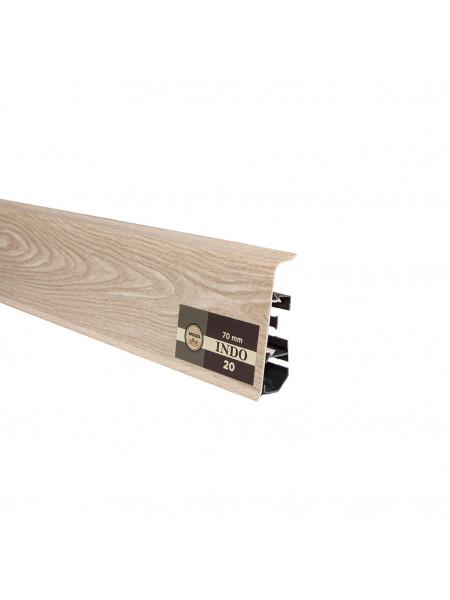 Плинтус пластиковый с кабель-каналом Arbiton Indo 20 Дуб Бургас 70х26, 1 м.п.