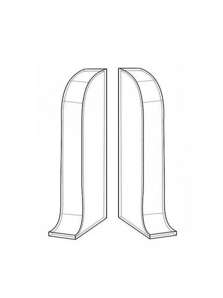 Заглушки торцевые (пара) для плинтуса Arbiton Indo 03 Дуб Лофт