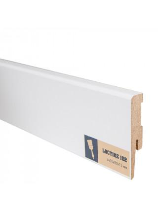 Плинтус Arbiton Loctike 102 МДФ белый прямой под покраску 80х15, 1 м.п.