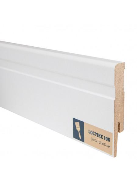 Плинтус Arbiton Loctike 106 МДФ белый фигурный под покраску 100х15, 1 м.п.