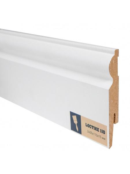 Плинтус Arbiton Loctike 110 МДФ белый фигурный под покраску 110х15, 1 м.п.