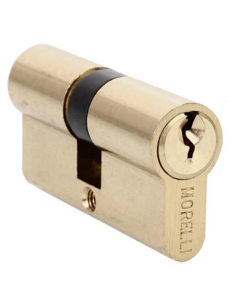 Цилиндр ключевой Morelli 50C PG золото