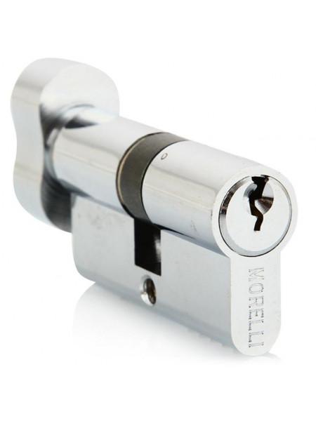 Цилиндр ключевой с поворотной ручкой Morelli 50CK PC хром