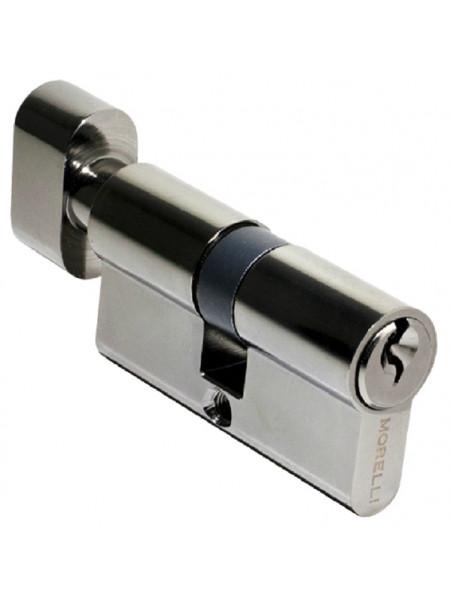 Цилиндр ключевой с поворотной ручкой Morelli 60CK BN черный никель