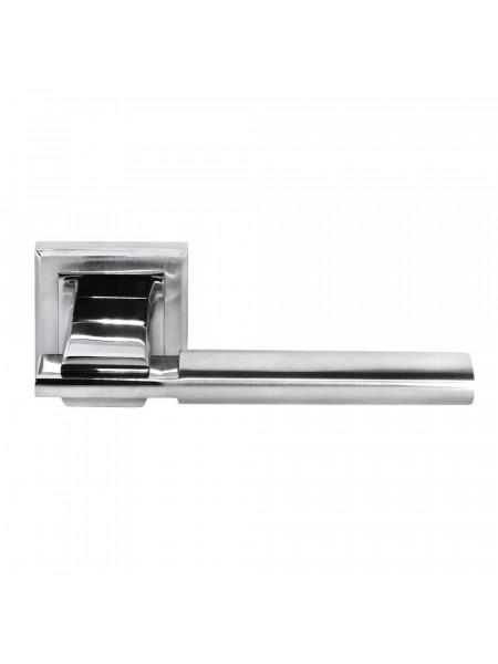 Ручка дверная Morelli DIY MH-13 SC/CP-S УПОЕНИЕ матовый хром/полированный хром