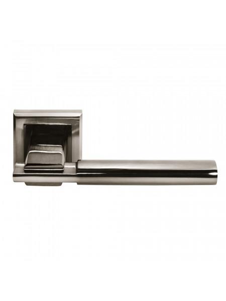 Ручка дверная Morelli DIY MH-13 SN/BN-S УПОЕНИЕ белый никель/черный никель