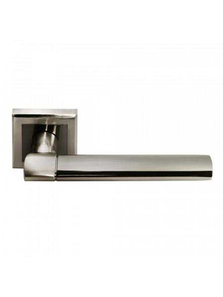 Ручка дверная Morelli DIY MH-21 SN/BN-S AGBAR белый никель/черный никель