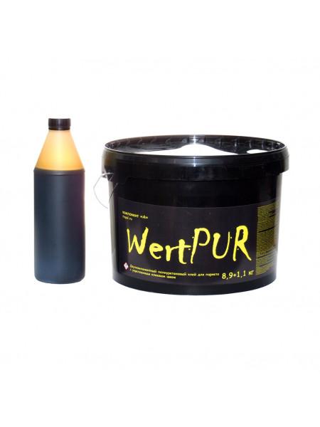Клей двухкомпонентный полиуретановый Wert PUR 10кг (8,9кг+1,1кг)