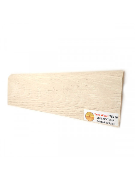 Плинтус Teckwood (Теквуд) МДФ цветной прямой Дуб Арктика 2150х75х16