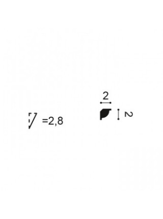Плинтус из дюрополимера Orac (Орак) CX132 20х20, 1 м.п.