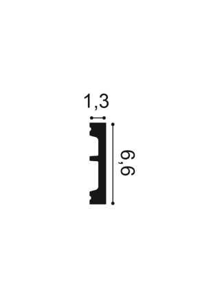 Плинтус из дюрополимера Orac (Орак) DX157-2300 66х13, 1 м.п.