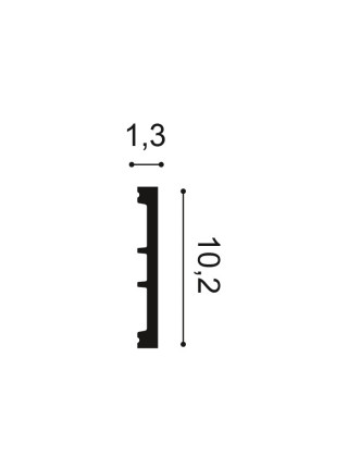 Плинтус из дюрополимера Orac (Орак) DX163-2300 102х13, 1 м.п.