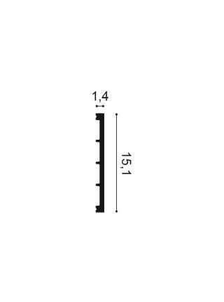 Плинтус из дюрополимера Orac (Орак) DX168 151х14
