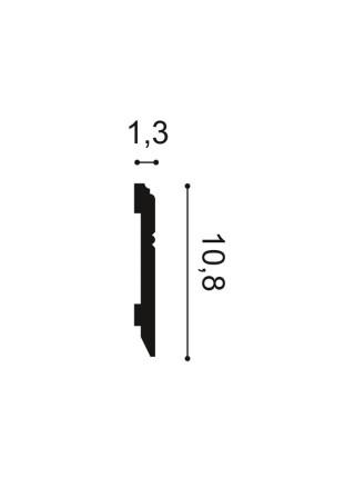 Плинтус из дюрополимера Orac (Орак) SX105 108х13, 1 м.п.