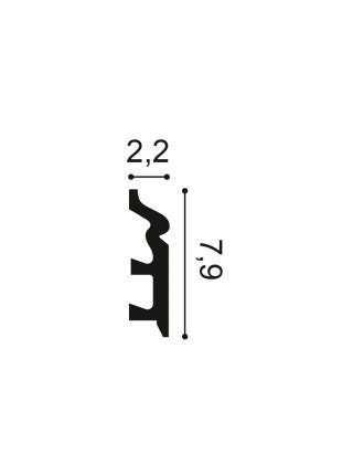 Плинтус из дюрополимера Orac (Орак) SX122 79х22, 1 м.п.