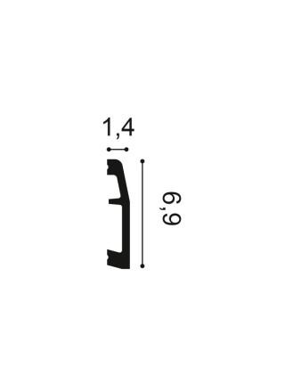 Плинтус из дюрополимера Orac (Орак) SX125 69х14, 1 м.п.