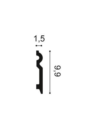 Плинтус из дюрополимера Orac (Орак) SX137 99х15, 1 м.п.
