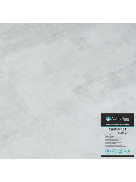 Каменно-полимерный ламинат (ПВХ) Alpine Floor Stone ECO 4-2 Самерсет