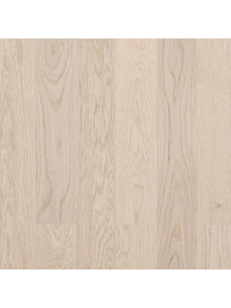 Паркетная доска Befag (Бефаг) Дуб Натур, белый лак, двухполосная