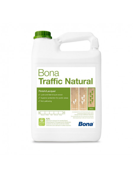 Лак Bona (Бона) Traffic Natural (Трэффик Натурал) 2K мат. 4,95 л