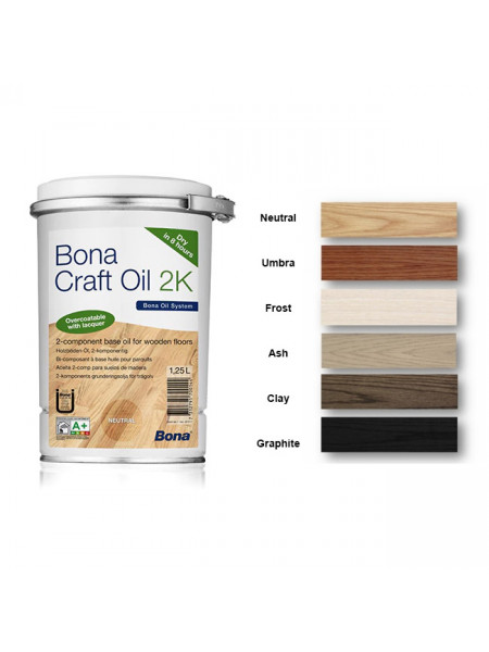 Масло Bona (Бона) Craft Oil (Крафт Ойл) 2K Ash (Серый/Пепельный) 1,25л