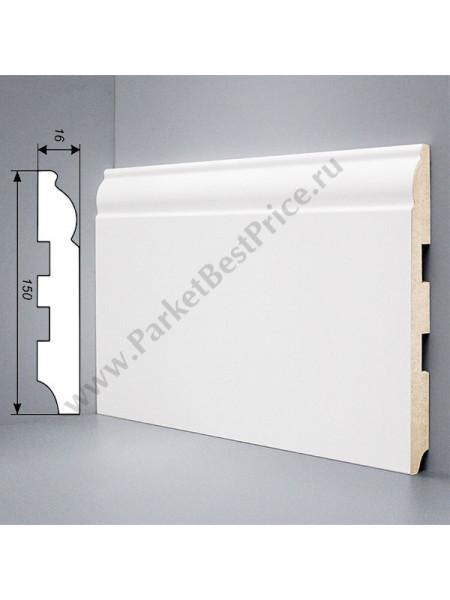 Плинтус Deartio (Деартио) U104-150 МДФ белый фигурный 2050х150х16