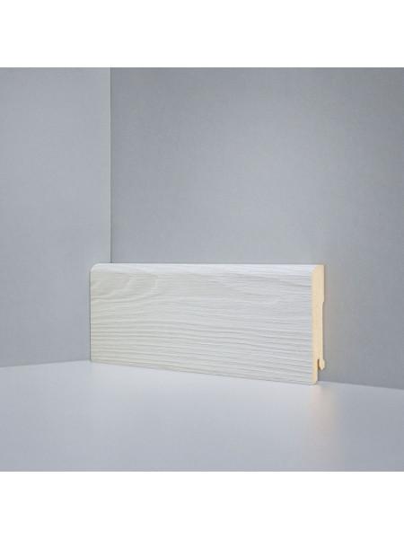 Плинтус Deartio (Деартио) B202-01 МДФ цветной прямой Дуб Монте-Карло светло-серый 80х16, 1 м.п.