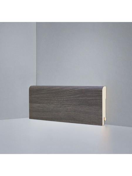 Плинтус Deartio (Деартио) B202-03 МДФ цветной прямой Дуб Монте-Карло серый 80х16, 1 м.п.