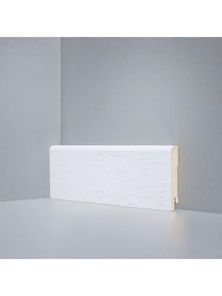 Плинтус Deartio (Деартио) B202-04 МДФ цветной прямой Дуб бело-серый 80х16, 1 м.п.