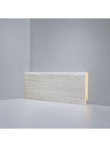Плинтус Deartio (Деартио) B202-05 МДФ цветной прямой Дуб янтарный светло-серый 80х16, 1 м.п.