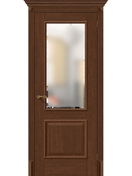 Межкомнатная дверь el'PORTA (Эль Порта) Classico S евро шпон Классико-13 Brown Oak СТ-Magic Fog, полотно