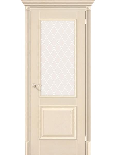 Межкомнатная дверь el'PORTA (Эль Порта) Classico S эко шпон Классико-13 Ivory White Crystal, полотно