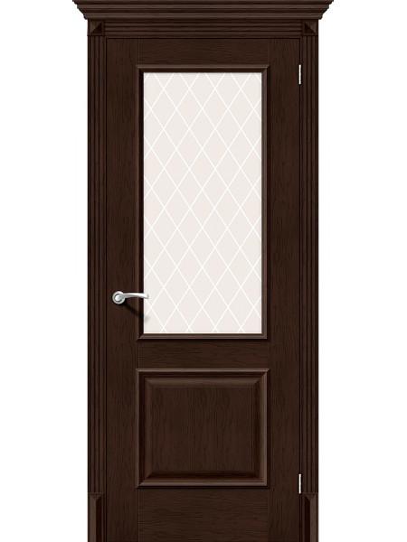 Межкомнатная дверь el'PORTA (Эль Порта) Classico S эко шпон Классико-13 Antique Oak White Сrystal, полотно