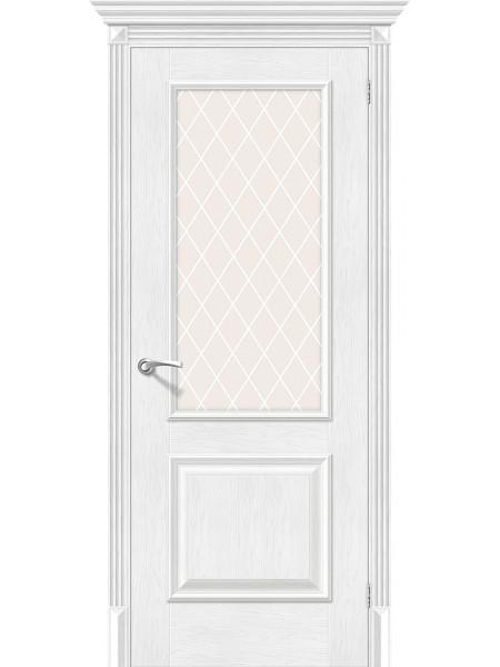 Межкомнатная дверь el'PORTA (Эль Порта) Classico S эко шпон Классико-13 Royal Oak White Crystal, полотно