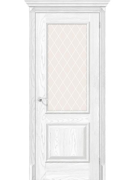 Межкомнатная дверь el'PORTA (Эль Порта) Classico S эко шпон Классико-13 Silver Ash White Crystal, полотно