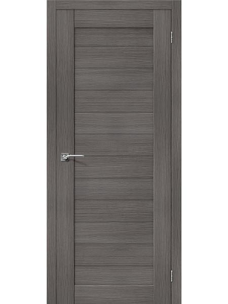 Межкомнатная дверь el'PORTA (Эль Порта) Porta X эко шпон Порта-21 Grey Veralinga, полотно