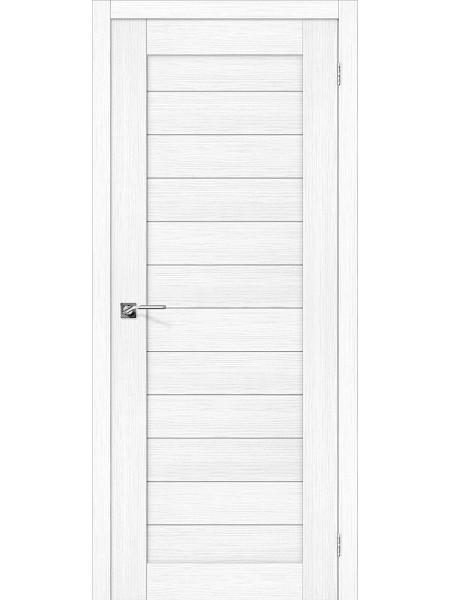 Межкомнатная дверь el'PORTA (Эль Порта) Porta X эко шпон Порта-21 Snow Veralinga, полотно