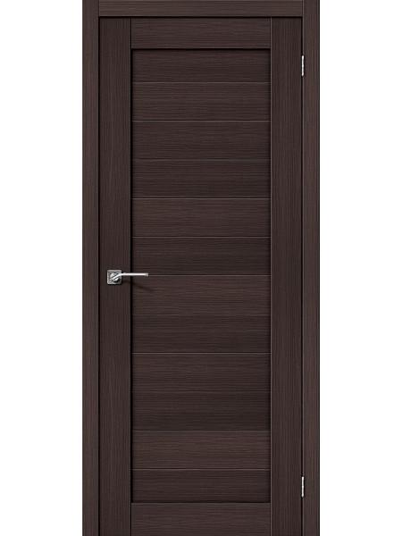 Межкомнатная дверь el'PORTA (Эль Порта) Porta X эко шпон Порта-21 Wenge Veralinga, полотно