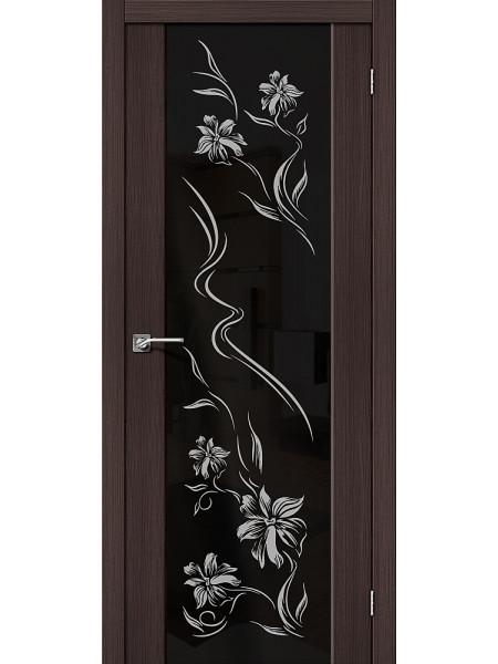 Межкомнатная дверь el'PORTA (Эль Порта) Soft эко шпон S-13 Wenge Veralinga Print Triplex, полотно