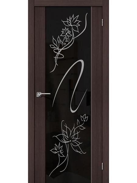 Межкомнатная дверь el'PORTA (Эль Порта) Soft эко шпон S-13 Wenge Veralinga Stamp Triplex, полотно