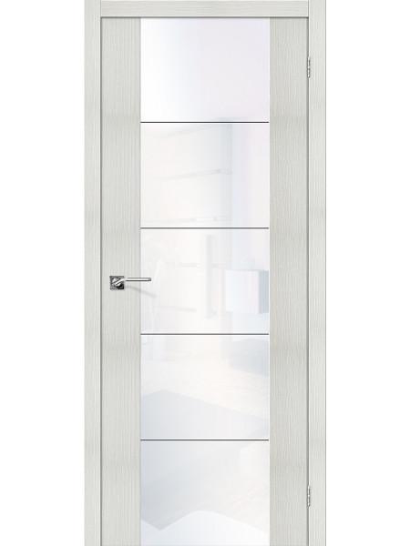 Межкомнатная дверь el'PORTA (Эль Порта) Vetro эко шпон V4 Bianco Veralinga White Waltz, полотно
