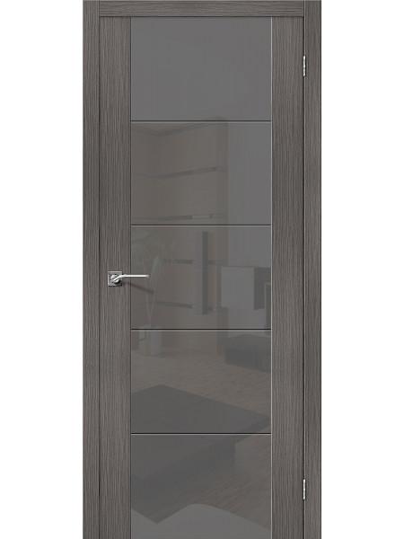 Межкомнатная дверь el'PORTA (Эль Порта) Vetro эко шпон V4 Grey Veralinga Smoke, полотно