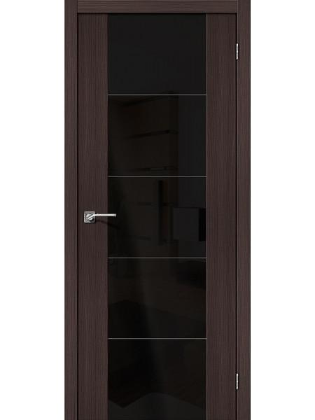 Межкомнатная дверь el'PORTA (Эль Порта) Vetro эко шпон V4 Wenge Veralinga Black Star, полотно